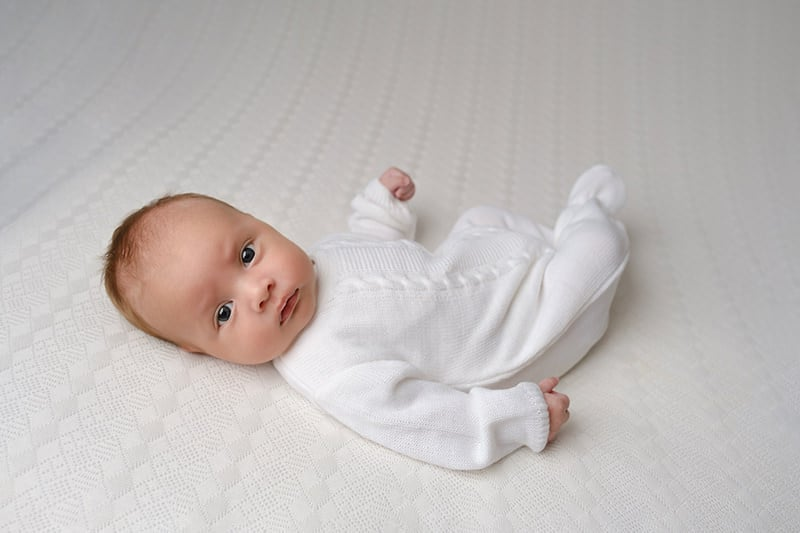 Newborn white cable knit onesie louth